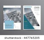 business template for brochure  ...   Shutterstock .eps vector #447765205