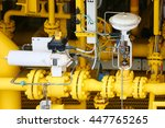 pressure control valve in oil... | Shutterstock . vector #447765265