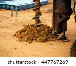 holes boring in ground with... | Shutterstock . vector #447767269