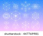 sacred geometry symbols... | Shutterstock .eps vector #447769981