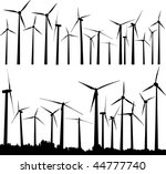 Vector Silhouette Of Wind...