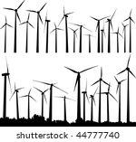 vector silhouette of wind... | Shutterstock .eps vector #44777740