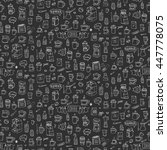 seamless background hand drawn... | Shutterstock .eps vector #447778075