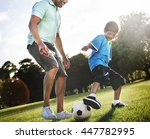 family father son togetherness... | Shutterstock . vector #447782995
