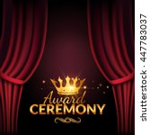 award ceremony design template. ... | Shutterstock .eps vector #447783037