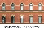 several windows in a row on... | Shutterstock . vector #447793999