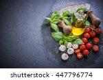 italian fresh grocery   border... | Shutterstock . vector #447796774