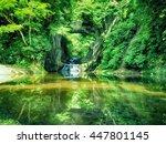 nomizo falls  nomizonotaki ...   Shutterstock . vector #447801145