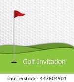 golf tournament invitation... | Shutterstock .eps vector #447804901