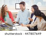 business people working... | Shutterstock . vector #447807649