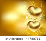 golden love card vector | Shutterstock .eps vector #44780791