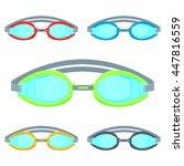 pool goggles vector...   Shutterstock .eps vector #447816559