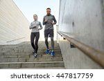 fitness  sport  people and... | Shutterstock . vector #447817759