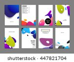abstract background with liquid ... | Shutterstock .eps vector #447821704