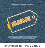 vector applique style denim tag ... | Shutterstock .eps vector #447825871