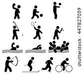 sport icon vector | Shutterstock .eps vector #447827059