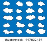 icons clouds on blue background | Shutterstock . vector #447832489