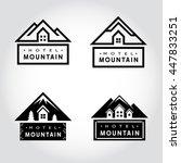 set of hotel mountain badge... | Shutterstock .eps vector #447833251