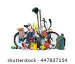 sports equipment has fallen... | Shutterstock . vector #447837154