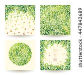 set of four vector backgrounds... | Shutterstock .eps vector #447842689