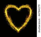 blazing heart | Shutterstock . vector #44784379