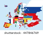 map of europe colored with the... | Shutterstock .eps vector #447846769