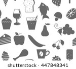 Kitchen Seamless Pattern With...