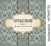 vintage frame  | Shutterstock .eps vector #447849751