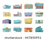 set of commercial buildings ... | Shutterstock .eps vector #447850951
