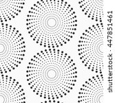 abstract dotted circles... | Shutterstock .eps vector #447851461