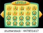 level selection. vector... | Shutterstock .eps vector #447851617