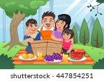 a vector illustration of happy... | Shutterstock .eps vector #447854251