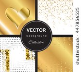 trendy shiny golden falling... | Shutterstock .eps vector #447856525