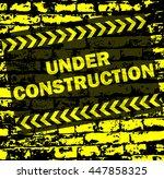 under construction background   ... | Shutterstock .eps vector #447858325
