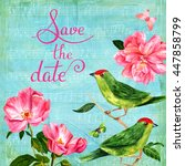 'save The Date' Card With...