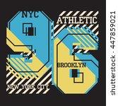 new york   fashion typography ... | Shutterstock . vector #447859021