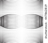 vector dotted abstract halftone ...   Shutterstock .eps vector #447862819