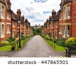 new english estate | Shutterstock . vector #447865501