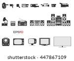 evolution of video cameras ... | Shutterstock .eps vector #447867109