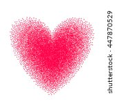 heart drawn with stipple brush... | Shutterstock .eps vector #447870529