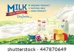 still life of a set of dairy... | Shutterstock .eps vector #447870649