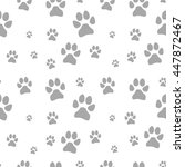 gray dog footstep seamless... | Shutterstock . vector #447872467