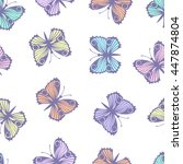 seamless pattern with... | Shutterstock .eps vector #447874804