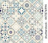 luxury oriental tile seamless...   Shutterstock .eps vector #447876994