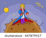 the little prince in his smart... | Shutterstock .eps vector #447879517