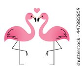 Flamingo Couple In Love