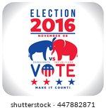 usa election 2016   Shutterstock .eps vector #447882871