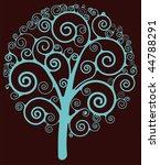 swirl tree | Shutterstock .eps vector #44788291