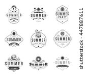 summer holidays typography... | Shutterstock .eps vector #447887611