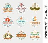 Summer Holidays Typography...